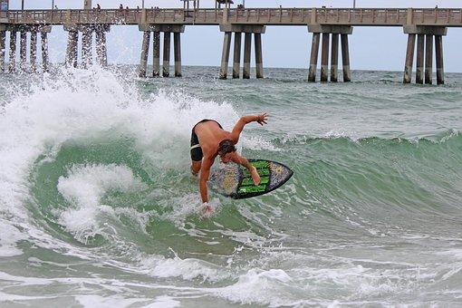Skimboard, Waves, Lifestyle, Beach, Obx, Surf