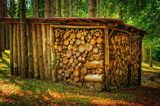Wood, Stack, Firewood, Stacked, Tree Trunks, Stacked Up