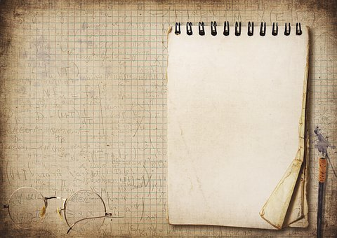 Writing Pad, Pen, Glasses, Ink, Paper, Checkered