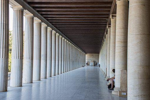 Perspective, Depth, Architecture, Distance, Columns