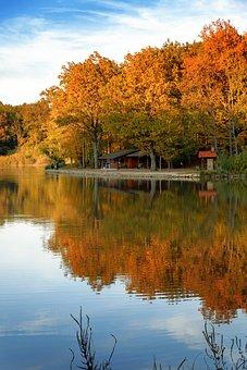 Bakónak, Dobrovnik, Slovenia, Lake, Water, Mirror