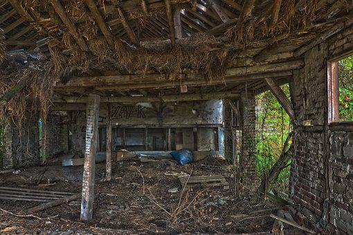 Lost Places, Barn, Farm, Building, Scale, Old