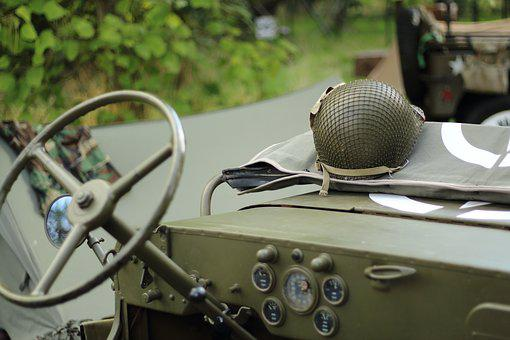Helmet, Jeep, Vehicle, Military, Army, Camouflage