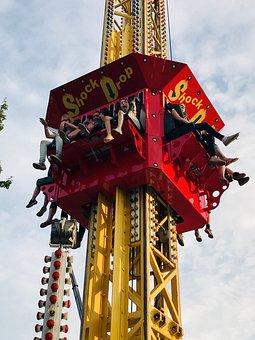 Shock Drop, Rides, Fun, Carnival, Ride, Children, Fair