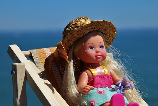 Doll, Rubber, Toy, Charming, Summer, Relaxation, Water