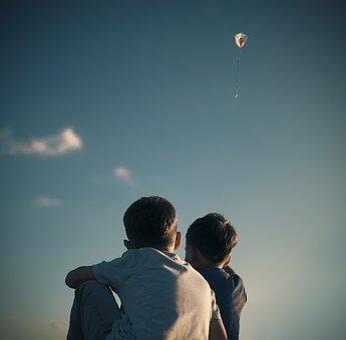 Kite, Children, Child, Sky, Freedom, Happiness, Blue
