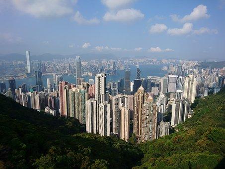 China, Hong Kong, Skyline, The Peak, City, Skyscraper