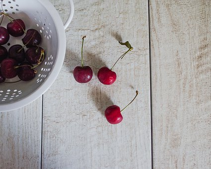 Cherries, Fruit, Ripe, Red, Delicious, Fresh, Food