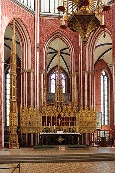 Doberan, Münster, Altar, Church, Cistercian Monastery