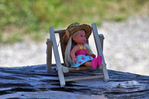 Summer, Holiday, Tanning, Sunbed, Relaxation, Doll, Hat