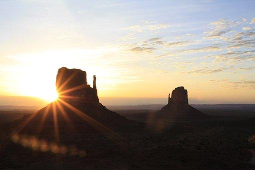 Usa, Nevada, Desert, Monument, Landscape, Dry, Stone