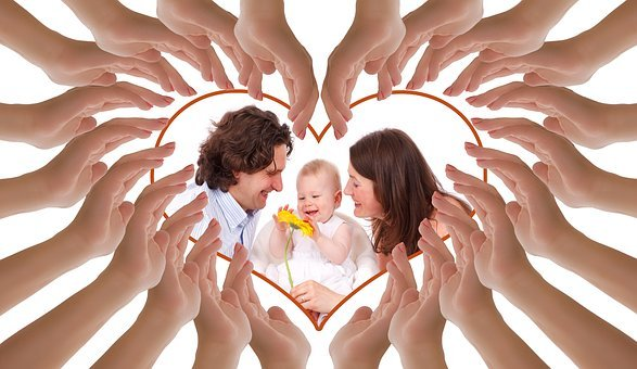 Hands, Heart, Family, Love, Mother, Father, Child