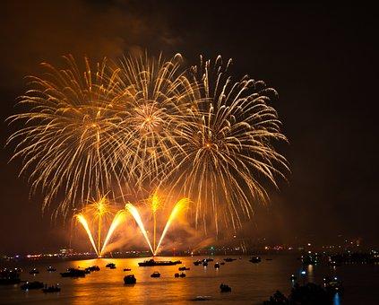 Fireworks, Night, Pyrotechnics, Celebration, Explosion