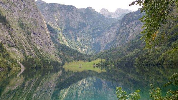Königssee, Upper Lake, Fischunkelalm, Berchtesgaden