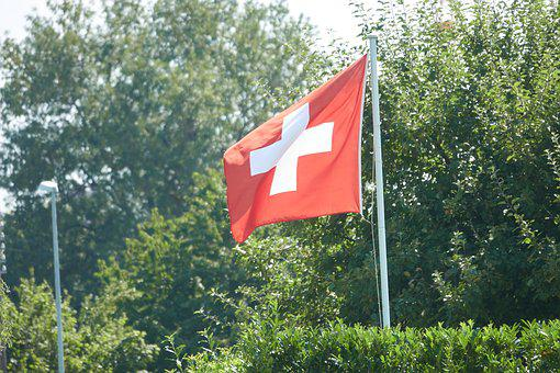 Switzerland, Flag, Cross, Red, White, Nation