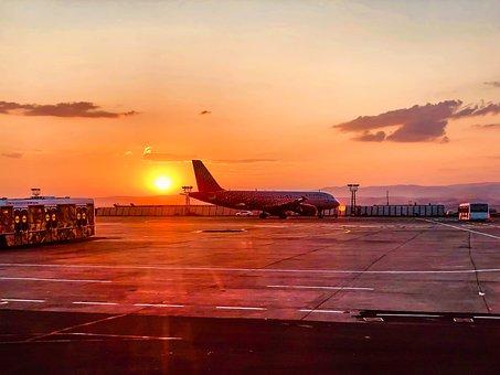 The Plane, Airport, Sky, Landscape, Flight, Air