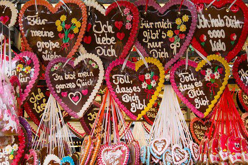 Eat, Gingerbread, Gingerbread Heart, Folk Festival