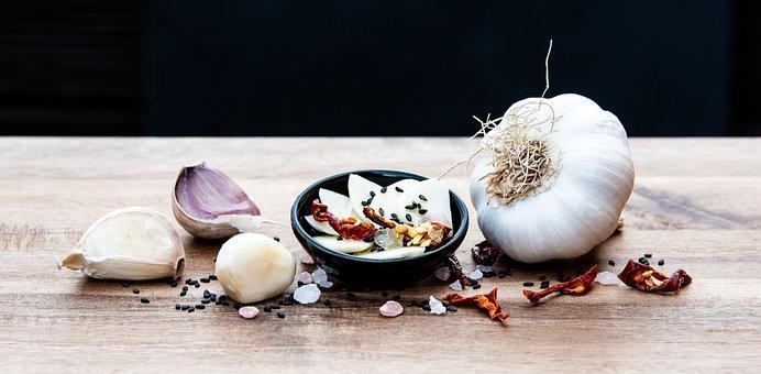 Garlic, Vegetables, Foodstuffs, Spices, Fresh, Cooking