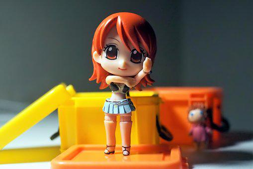 Toy, Cute, Girl, Young, Lady, Anime, Character
