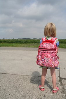 Child, Girl, Backpack, Travel, Young, Nature