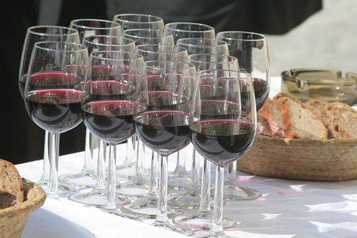 Agape, Glasses, Red Wine, Celebration, Buffet