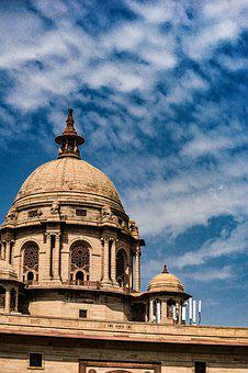 Rastrapati Bhavan, Sky, Blue, Dream, India, Government