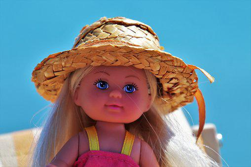 Doll, Face, Hat, Portrait, Charming, Colorful, Summer