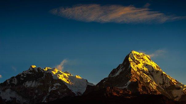 Annapurna, Himalayas, Mountain, Nepal, Hiking, Sky