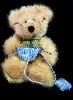 Teddy, Toy, Knitting, Craft, Hobby