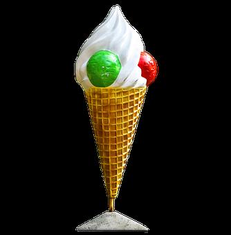 Ice Cream Cone, Ice, Cone, Waffle, Vanilla, Delicious