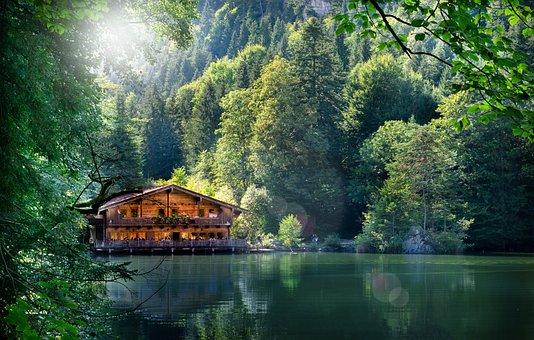 Berglsteinersee, Kramsach, Lake, Forest, Landscape
