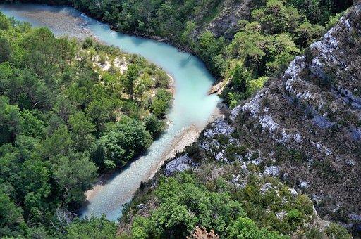 Nature, Landscape, River, Gorge, Canyon