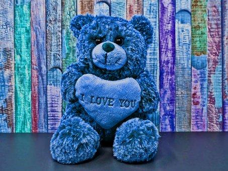 Teddy, Love, Romance, Sweet, Cute, Soft Toy