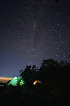 Milky Way, Tent, Camping, Starry, Adventure, Stars
