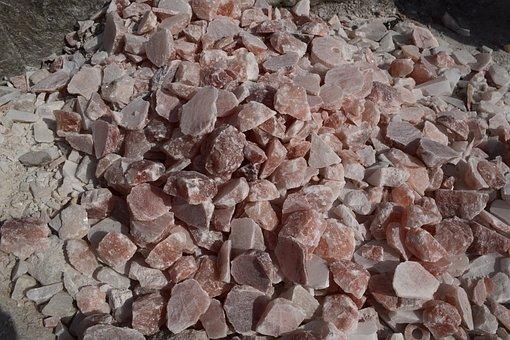 Lots Of Rock Salt, Rock, Salt, Pieces, Mountain, Broken