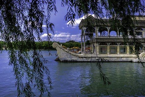 Pagoda, China, Lake, Asia, Temple, Architecture, Travel