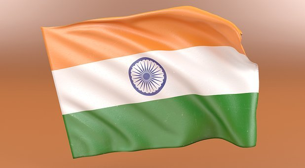 Indian, Flag, National, India, Country, Patriotism