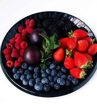 Fruit Platter, Strawberries, Raspberries, Platter