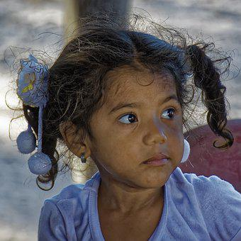 Colombia, Girl, Indigenously, Culture, Human, Portrait