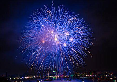 Fireworks, Festival, Pyrotechnics, Champagne, Rocket