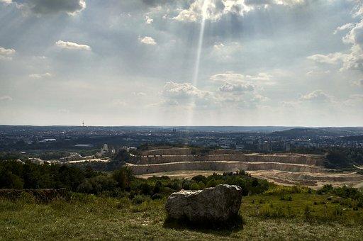 Quarry, Nature, Stone, Landscape, Panorama, Sun