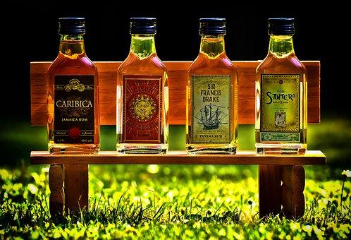 Rum, Alcohol, Bottles, Reserve Bank, Different Origin