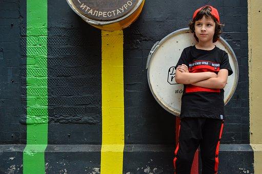 Boy, Model, Cap, Sports Style, Children's Fashion