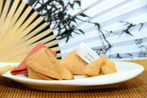 Subjects, Bamboo, Mat, Fortune Cookies, Asia, Surprise