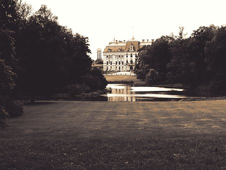 Castle, Manor, The Palace, Garden, Pond, Park, Pszczyna