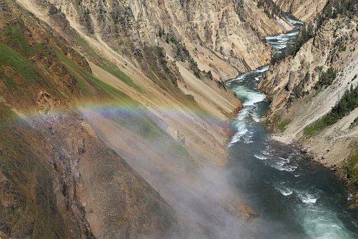 Valley, Gorge, Rainbow, Grand Canyon, Yellowstone