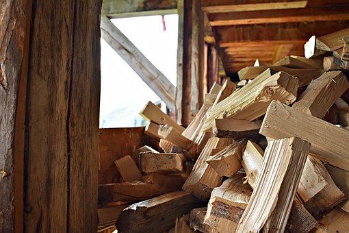 Wood, Natural, Cutting, Hut, Mountain Hut, Saw, Split