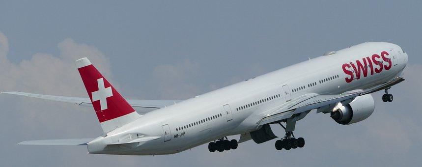 Airport, Zurich, Balls, Swiss, Boeing 777, Hb-jnf
