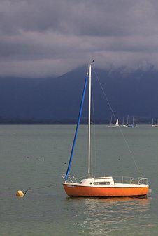 Sailing Boat, Anchor, Boat, Water, Lake, Chiemsee
