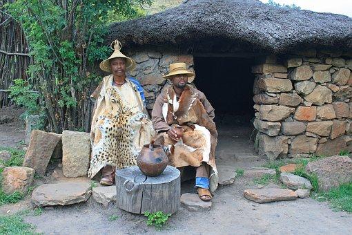 Traditional Basotho Men, Dress, Skins, Ethnic, Basotho